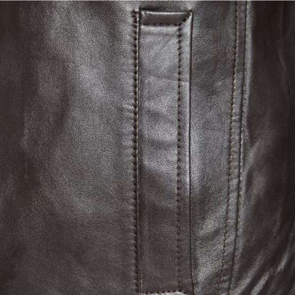 Mens Fashion Jacket: Men's Trendy Leather Jacket Open Bottom Style which is tailored to your size