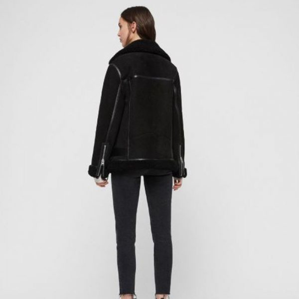WOMEN REI SHEARLING JACKET - BACK VIEW