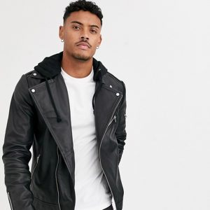 Buy Leather jacket in black
