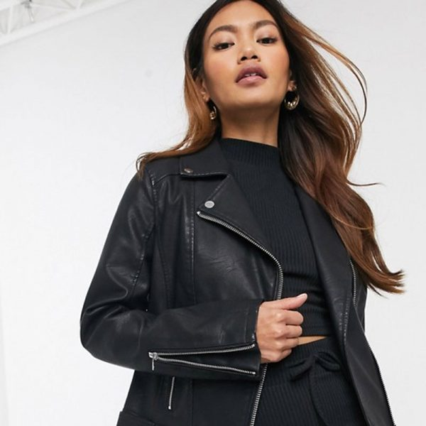 Buy Real Black Leather Jacket For Women