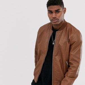 Tan biker jacket mens