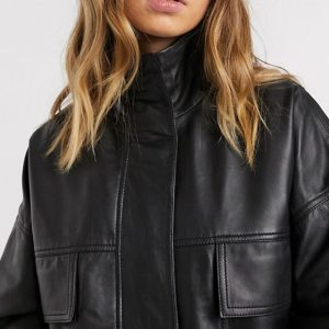 Black Leather Jacket Online For Women