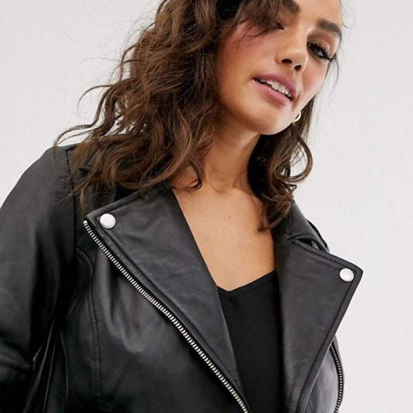 Leather Jacket In Black Colored
