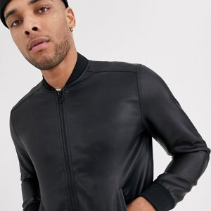 Classic Men's Original Black Bomber Jacket