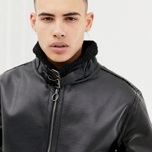 Classic Men's Original Black Biker Jacket