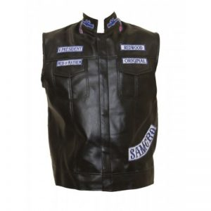 Jax Teller Sons of Anarchy Patchy Leather Vest