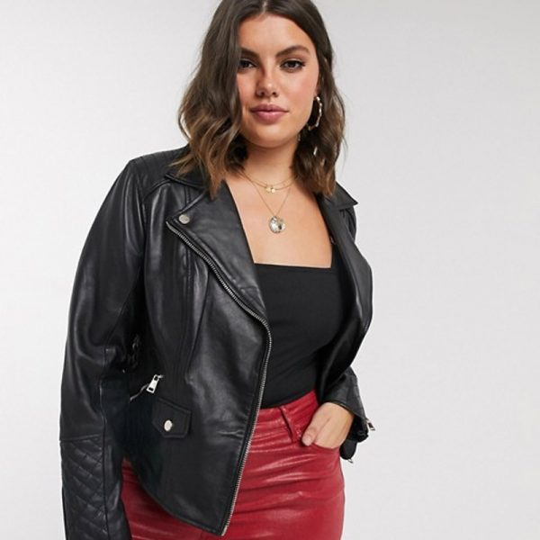Pure Leather Biker Jacket For Women