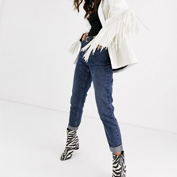 Leather Jacket Fringe For Women