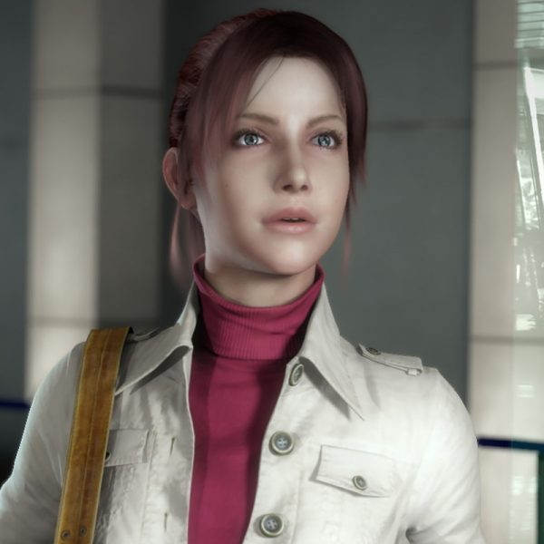 Cotton White Jacket With Claire Redfield