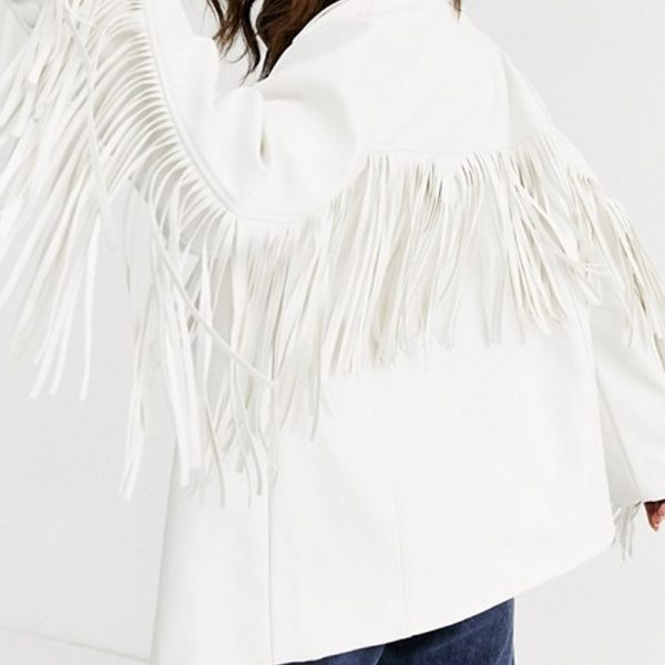 Fringe Leather Jacket For Women