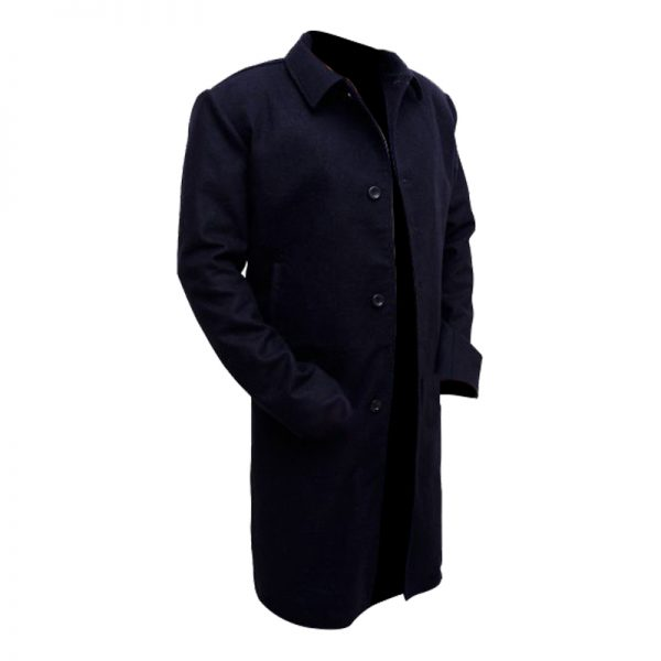 Classy Black Matte Coat For Men