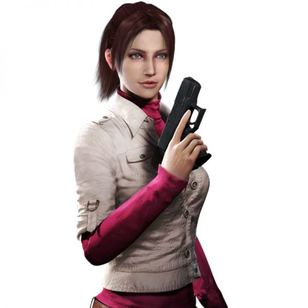 Claire Redfield White Cotton Jacket