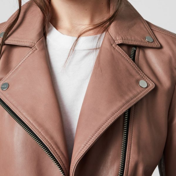 Pure Biker Leather Jacket For Women