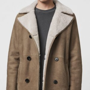 Cheap Stylish Shearling Coat Men