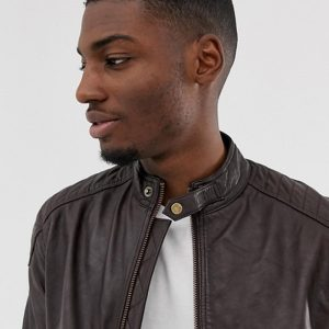 Real Brown Leather Jacket For Men