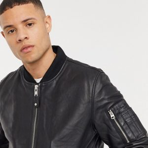 Black Premium Leather Jacket For Men