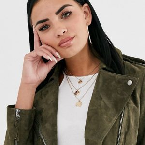 Suede Leather Soft Biker Jacket For Women