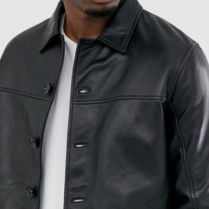 Buy Black Reefer Leather Jacket