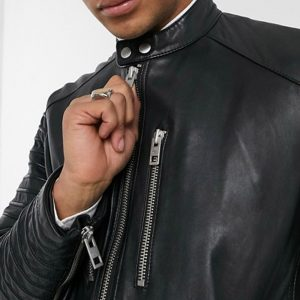 Buy Black Biker Leather Jacket