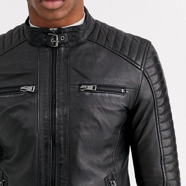 Buy 4 Pocket Biker Leather Jacket