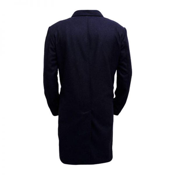 Matte Black Coat For Men