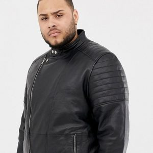 Classic Biker Leather Jacket For Men