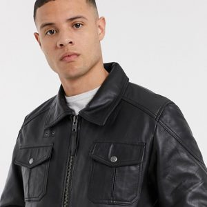 Classic Premium Leather Jacket For Men