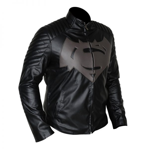 Superman Gray Black Jacket with S Logo for men