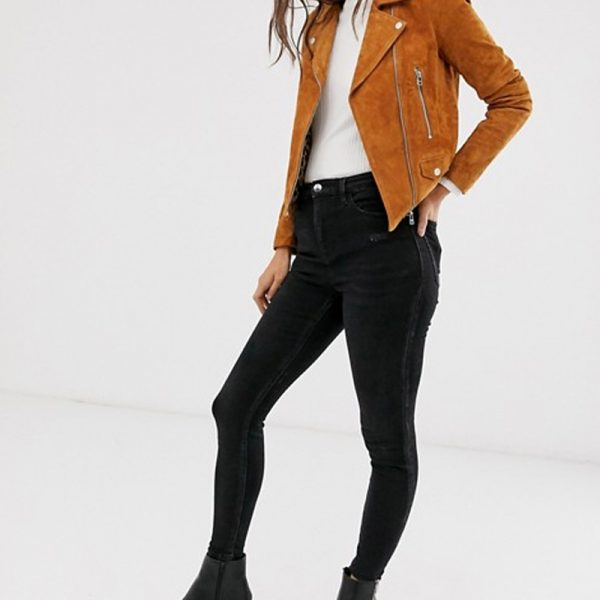 Biker Suede Jacket For Women