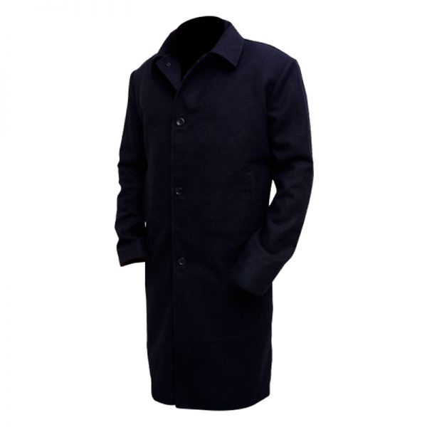 Buy Matte Black Coat For Men