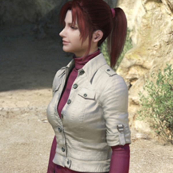 Buy Claire Redfield White Cotton Jacket