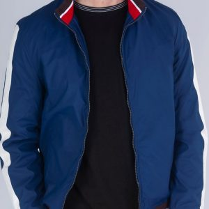 Blue Jacket in color trendy look