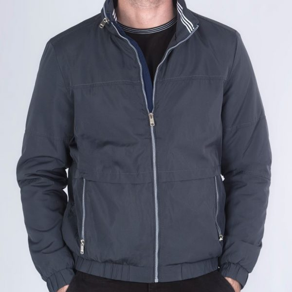 Polyester Charcoal/ Navy Jacket for male costume