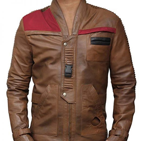 Star Wars Finn Distressed Brown leather Jacket available,
