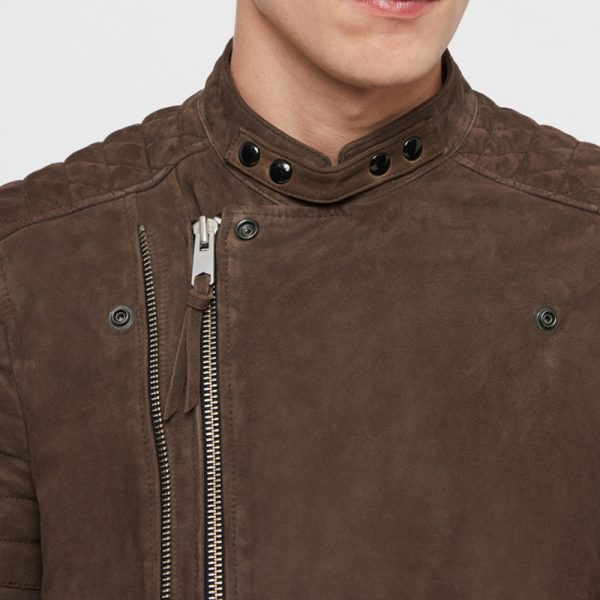 Pure Brown Cotton Trending Jacket For Men
