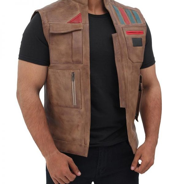 Buy Online Brown Leather Vest By Solo A Star Wars Story