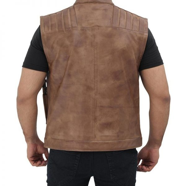 Real Star Wars Brown Leather Vest