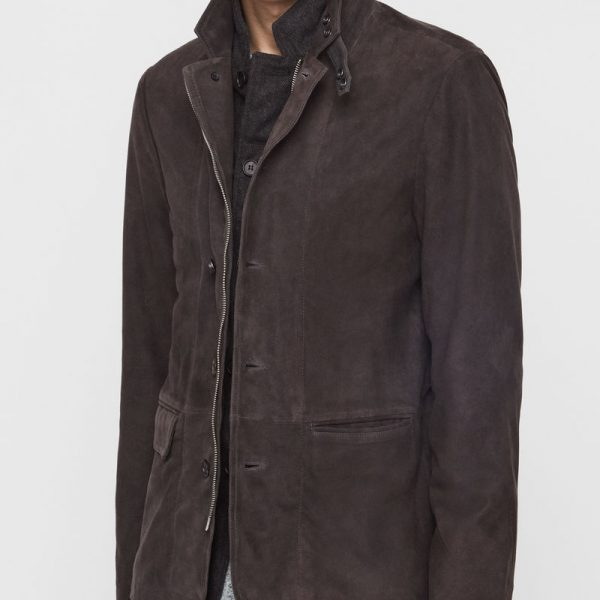 Buy Dark Brown Leather Coat For Men