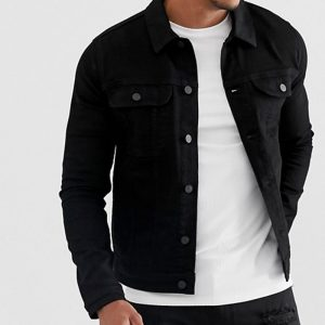 denim jacket style for men in trend