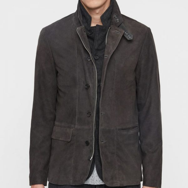 Dark Brown Leather Coat Men online available