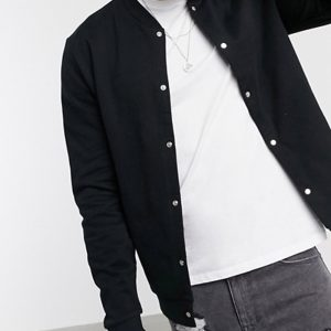 mens jacket style with organic jersey for mens