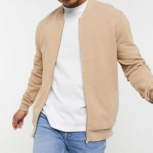 in beige ribbed color jacket fabric is for men style in trend