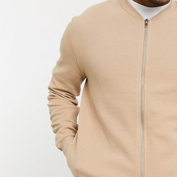 Fashion from beige ribbed design in trend