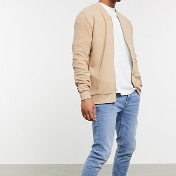 ribbed fabric jacket for mens in style for trending