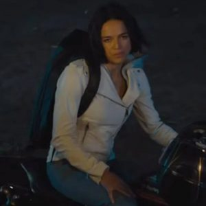 F9 Michelle Rodriguez Letty in White jacket