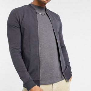 mens washed black color jacket in fashion and trend