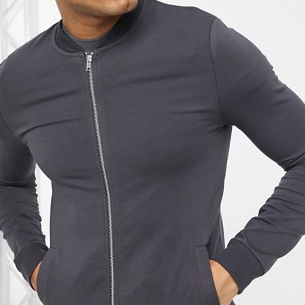 Muscle jersey bomber jacket costume in trend