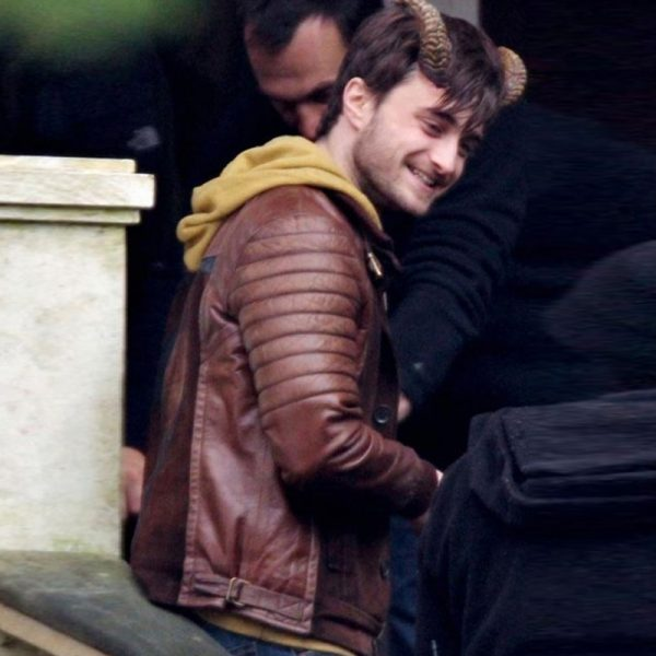Daniel Radcliffe Brown Jacket Fashion