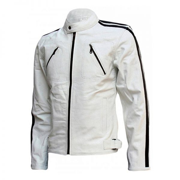 White leather jacket for men costume