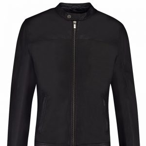 Black Leather Jacket Outfit For Men